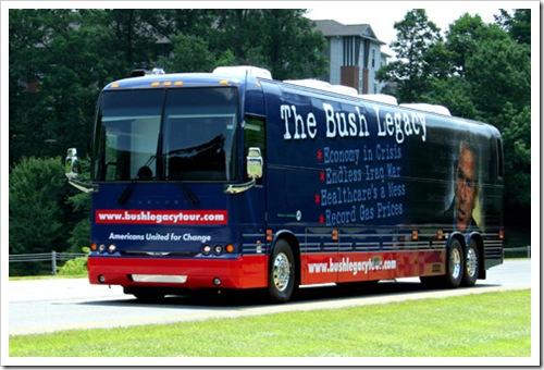 Bush Legacy tour bus