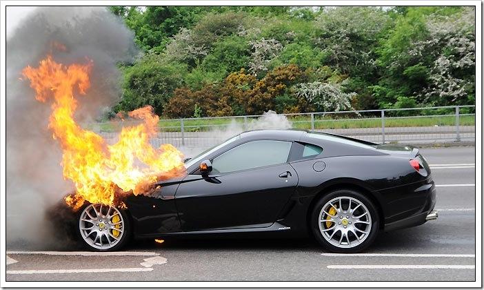 Ferrari 599 GTB Fiorano fire