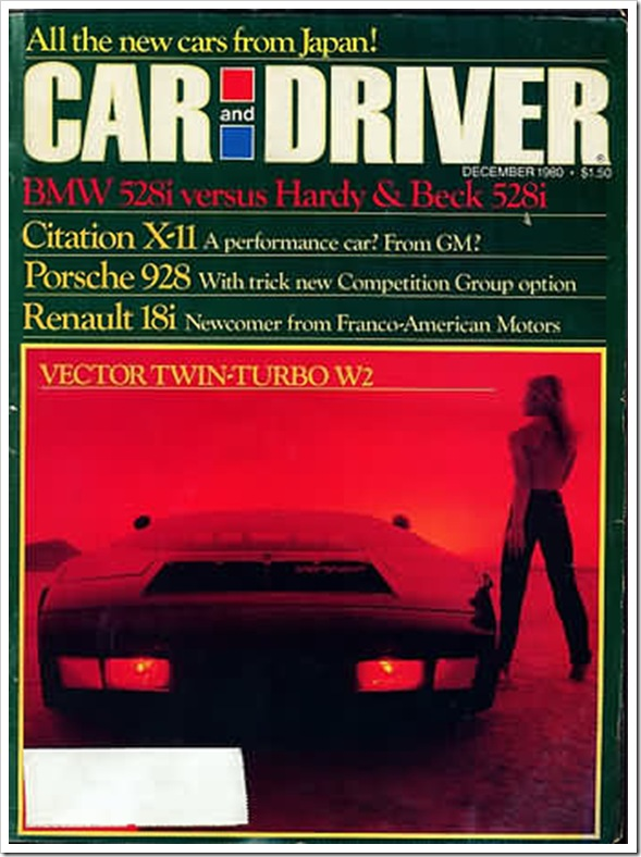 Car and Driver December 1980